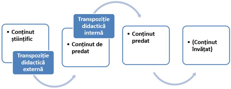 Etape ale transpoziției didactice: transpoziție internă și transpoziție externă